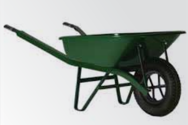 A 60 Liter One Wheeled Plastic Wheelbarrow