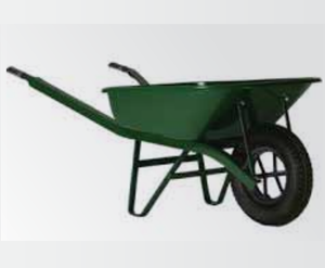 A 60 Liter One Wheeled Plastic Wheelbarrow